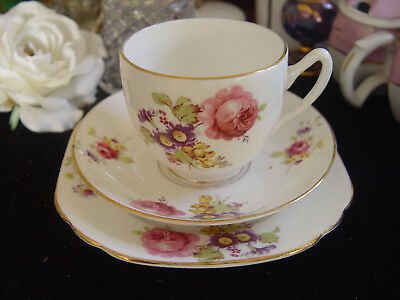 Duchess Floral Trio - Cup, Saucer, & Plate
