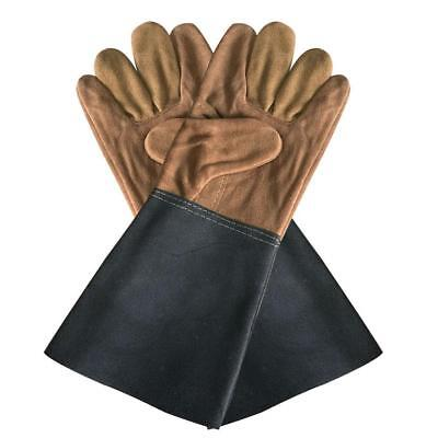 Durable Welding Welder Work Soft Cowhide Leather Plus Gloves Hand Protect Gift