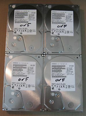 "Lot of 4 Hitachi SATA 3.5"" 750GB Internal Desktop Hard Drive Tested and Wiped"