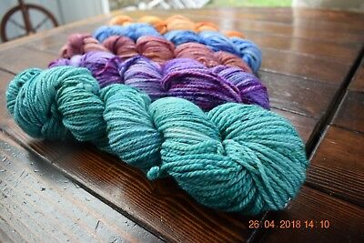 "Hand Dyed "" Hello Parker ""  Merino Knitting Yarn  10 Ply  Coordinated Skein Kit"