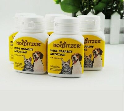 Howitzer Wide Parasite Medicine For Dogs Cats Dewormer 30 Tablets