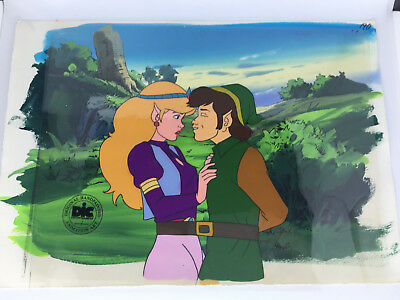 RARE 1989 Legend Of Zelda Original Animation Art 2 cel setup DIC TV series