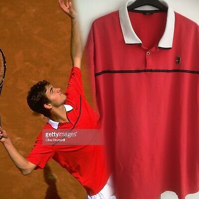 Nike Tennis Roger Federer 1999 French Open Dri Fit Polo Shirt Large
