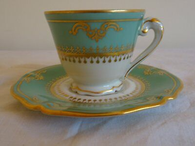 Tasse A Cafe Et Soucoupe Fabrique Royale Limoges Coffee Cup And Saucer