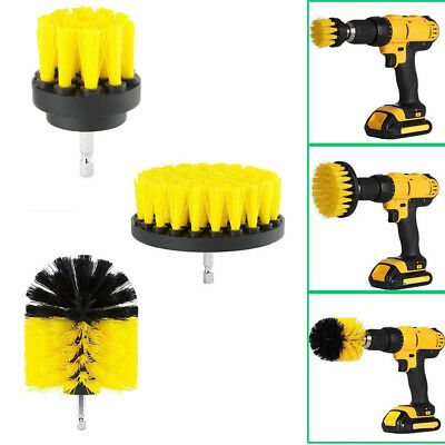 AU Grout Power Scrubber Cleaning Drill Brush Tub Cleaner Combo Tool Kit Yellow B