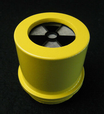 Sturdy Yellow Speaker for CDV700 Geiger Counter w/BLACK Glossy Trefoil Cap 705