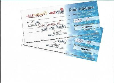 Two£60 Jet2 Holiday Vouchures