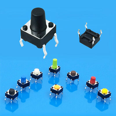 6*6*8mm Small Mini Momentary Tactile Push Button Switch 4Pin Off(on) Accessories