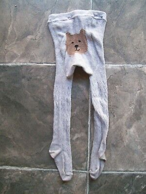 Girl's Gap Grey Bear Cotton Winter Stockings/Tights Size 1 VGUC