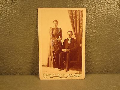 Victorian Antique Cabinet Card Photo of Couple