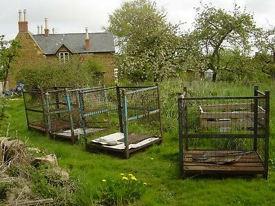 4 Number large metal stillages,rusty but usable