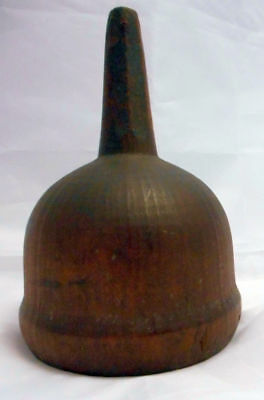Antique primitive wooden treen funnel early 19th century handmade