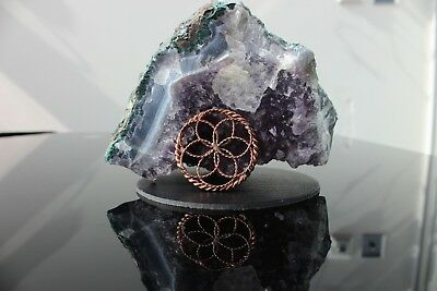 Seed of Life 1/4 1/8 Sacred Cubit Tensor Ring Pendant 144 MHZ Orgone EMF Auric
