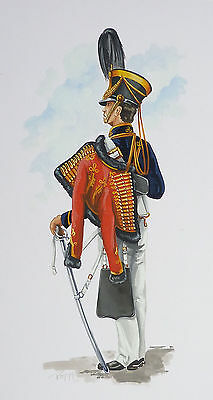 Original Military Watercolour Painting - Officer - 10Th Light Dragoons 1832