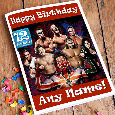 The Shield Wwe Birthday Card Personalised Choose Design 1 2 Or 3