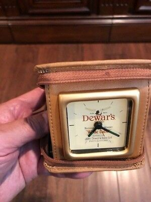Dewars White Label Scotch Travel Clock