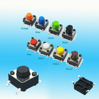 Colour SMD Tcat Off(on) 6*6*5mm Momentary Tactile Push Button Switch 4 Pin
