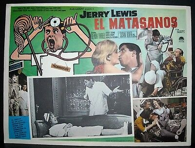 "The Disorderly Orderly "" Jerry Lewis "" 1964  Original Mexican lobby card"