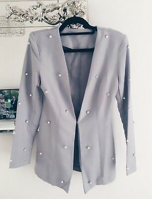 Pearl embellished Blazer And Shorts Two Piece Set Size 8