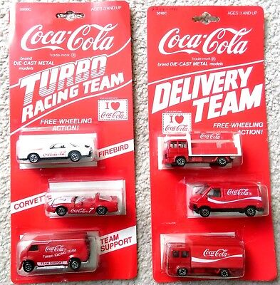 Vintage Coca Cola Turbo Racing Team And Delivery Team Sets Hartoy