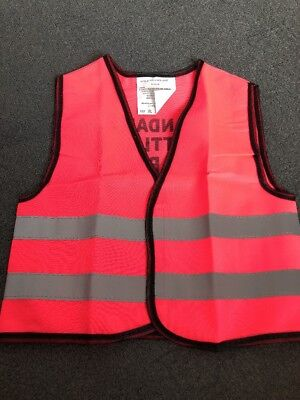 Infant Hi Vis Neon Pink Grandads Little Helper Jacket - Size Medium Or Large New