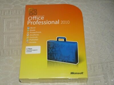 BRAND NEW Microsoft Office 2010 Professional Product(Key Card+DVD)