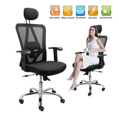 Office Mesh Chair Computer Desk Ergonomic 360° Swivel Lift Reclining Recliner