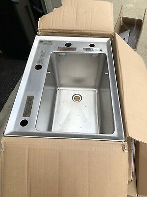 Elkay 4 hole Sink Commercial OSB10034X Stainless  Bar Restaurant coffee shop