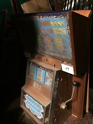 Collectable Poker Machine, One Armed Bandit - old valuable rare antique.