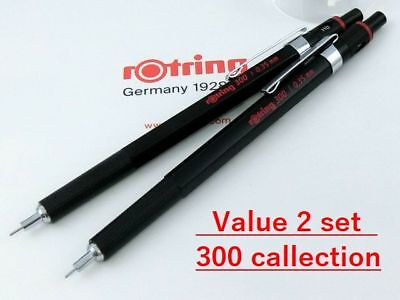 [Value set] rOtring 300 x2 Set Mechanical Pencil Black Body [NEW] Ship Free