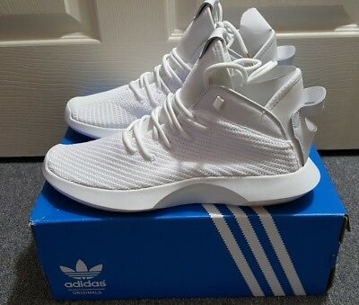 new style f758d 3f8a4 Adidas Crazy 1 Adv PK Primeknit White Gold Mens Basketball Shoes CG4819