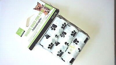 Printed Pet Waste Bags Dog Cat Poo Poop Pooper Scooper Toilet On a Roll Refill