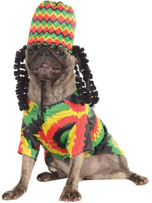 Classic Jamaican Rasta Hat and Shirt Pet Dog Size Small Costume