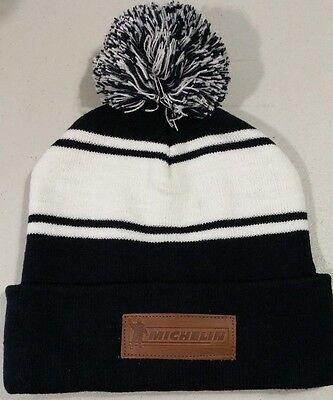 Michelin Winter  Beanie Hat Winter  Leather  Logo  Color New