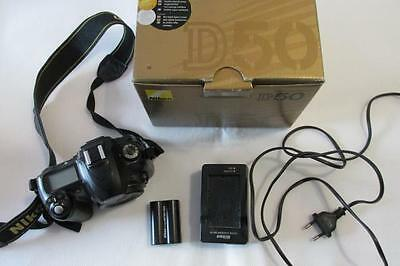 Nikon D D50 Digital-SLR DSLR Camera Body only - BLACK - BOXED