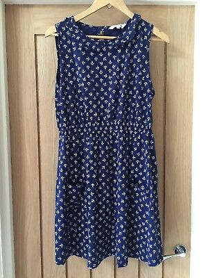 Navy Maternity Dress Size 16 With Anchor Pattern debenhams Red herring