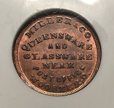 Wooster OH975I-1a NGC MS-64 RB - Miller & Co. Queensware - Finest Known