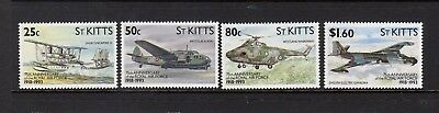 St Kitts 1993 75Th Anniversary Of Royal Airforce Set Um