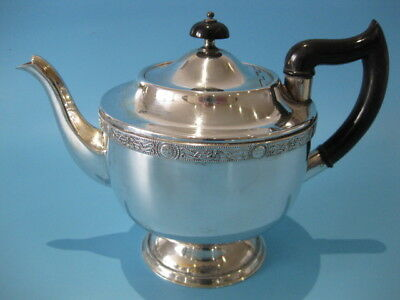 Beautiful Elegant Antique Silver Plated Victorian Style Large Round Tea Pot