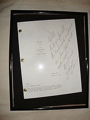 Dark Angel Pilot Screenplay Signed and Inscribed by James Cameron!