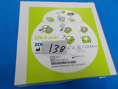 ZOLL 8900-0800-01 CPR-D-PADZ (NEW IN BOX)  Exp 2022