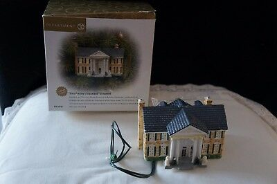 "Dept 56 ""Elvis Presley's Graceland"" Ornament New In Box Porcelain LIGHTS UP"