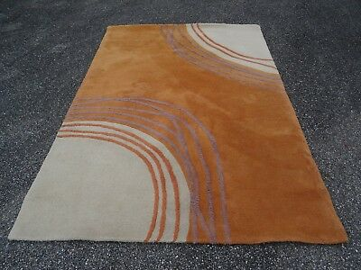 "Grand Tapis Design ""Spaceage"" an 80.90 Pure Laine Très Épaisse"