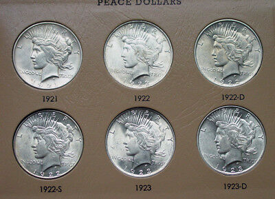 COMPLETE  PEACE DOLLAR Set 1921-1935; HIGH GRADE! SUNDAY ONLY LOW OFFER MAY????