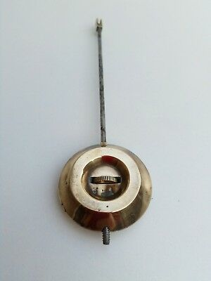 Vintage brass and metal clock pendulum with hook - spares parts