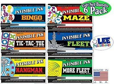 Lot OF 6 BOOKS MR MYSTERY YES & NO INVISIBLE INK GAME 1 BOOK & PEN PUZZLE GAME
