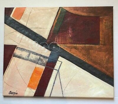 """Abstract Oil Painting 20"""" X 24 Oil PAINTING CARGILL"""
