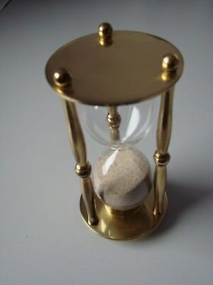Brass Egg timer 5 minutes perfect for large boiled egg