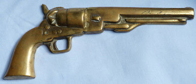 Antique Heavy Brass Us Colt Military Pistol Plaque - Taken From Gunsmiths Shop