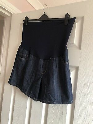 Blue Denim Over Thr Bump Shorts Maternity size 16/18